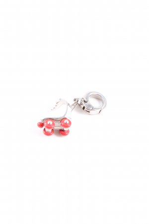 Fossil Charm white-red casual look