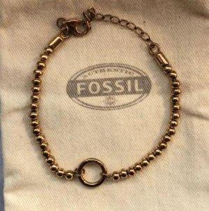 Fossil Charm-Armband Roségold