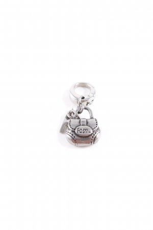 Fossil Charm silver-colored elegant