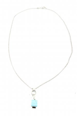 Fossil Collier zilver-turkoois casual uitstraling