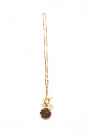 Fossil Collier goldfarben-braun Casual-Look