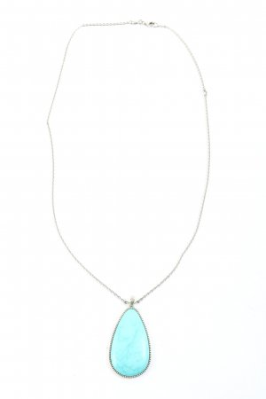 Fossil Collier argento-turchese stile casual
