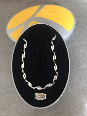 Fossil Collier argento Argento