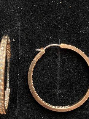Fossil Creolen Roségold mit Strass