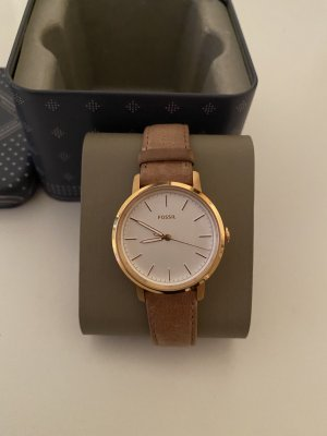 Fossil Watch With Leather Strap brown leather
