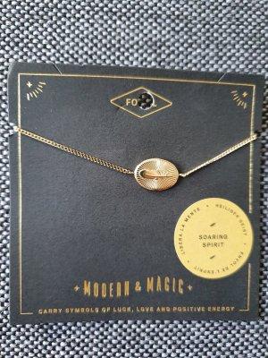 Fossil Damen Armband Feather JF03237710 Armkette gold ungetragen Armreif