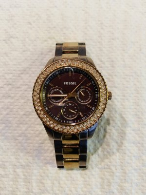 Fossil Watch With Metal Strap gold-colored-bronze-colored