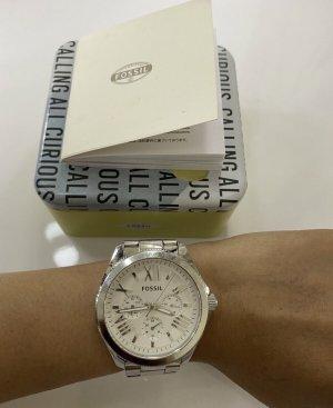 Fossil Damen Uhr in Silber metallic