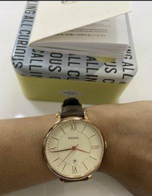 Fossil Damen Uhr mit braune Lederband