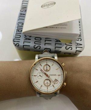 Fossil Damen Uhr mit graue Lederband