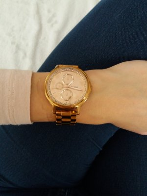 Fossil Damenuhr Armbanduhr gold Uhr Blogger