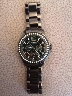 Fossil Zegarek analogowy czarny