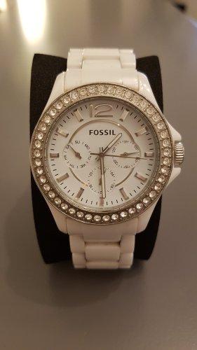 Fossil Reloj analógico blanco