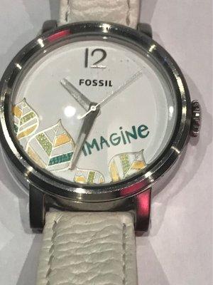 Fossil Damenuhr mit Lederarmband ES 2576, Original Dose