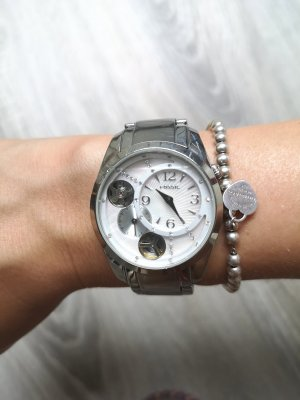 Fossil Watch With Metal Strap multicolored