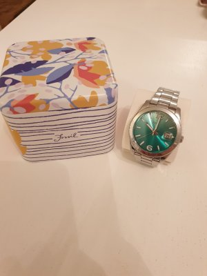 Fossil Analog Watch silver-colored-turquoise