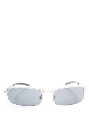 Fossil Occhiale da sole spigoloso grigio chiaro stile casual
