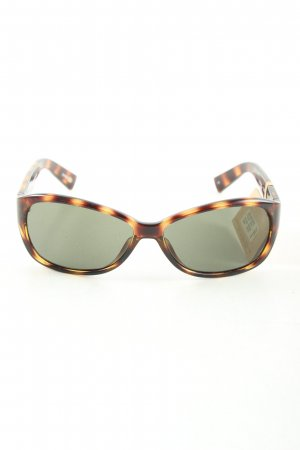 Fossil eckige Sonnenbrille braun-hellorange Animalmuster Casual-Look