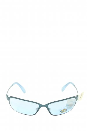 Fossil Retro Glasses blue themed print casual look