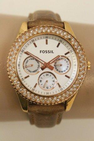 Fossil Reloj con pulsera de cuero multicolor Cuero