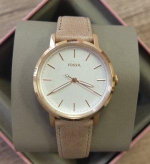 Fossil ES4185 Neely Watch Damenuhr neu Armbanduhr leder rosė gold nude beige