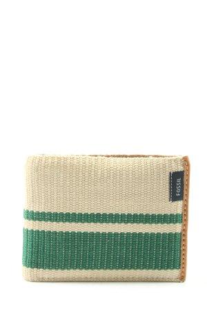 Fossil Geldbörse wollweiß-grün Streifenmuster Elegant