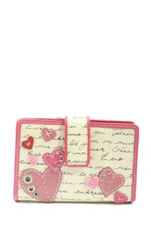 Fossil Geldbörse wollweiß-pink Motivdruck Casual-Look