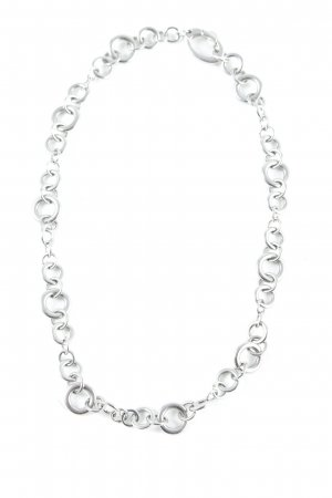 Fossil Link Chain silver-colored