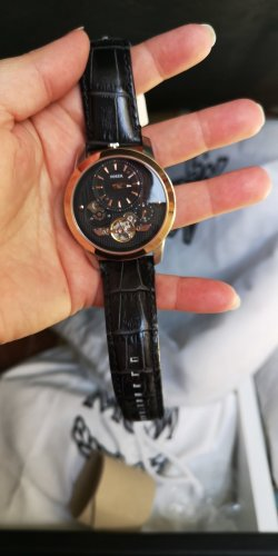 Fossil Self-Winding Watch black-dark brown leather
