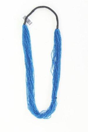 Fossil Halskette blau