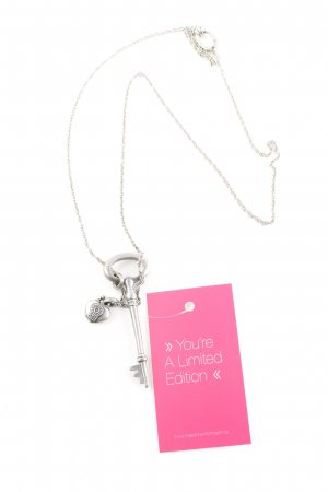 Fossil Necklace silver-colored casual look