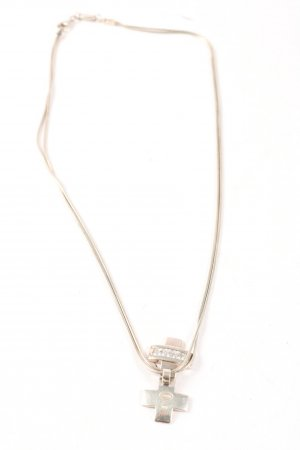Fossil Ketting zilver casual uitstraling