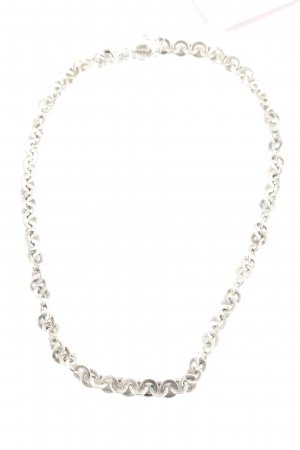 Fossil Halskette silberfarben klassischer Stil