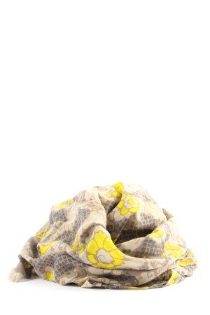 Fossil Pañoleta verde-amarillo pálido estampado con diseño abstracto