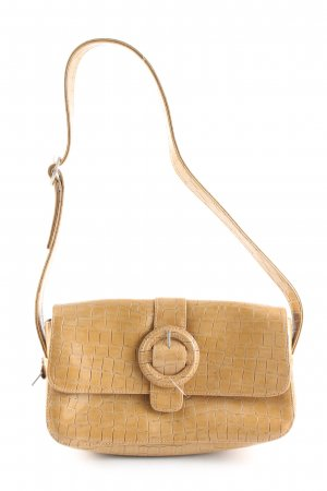 Fossil Handtasche hellorange Allover-Druck Business-Look
