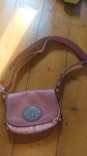 Fossil Handbag pink-dusky pink leather
