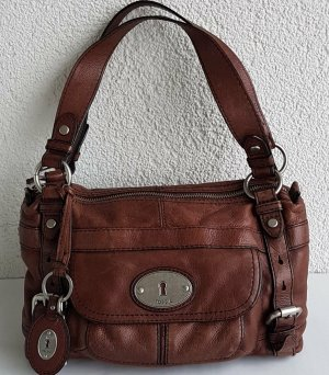 Fossil Handtasche Umhängetasche Henkeltasche Leder braun