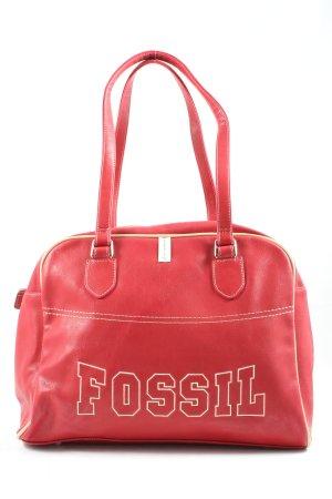 Fossil Schultertasche rot Schriftzug gedruckt Casual-Look
