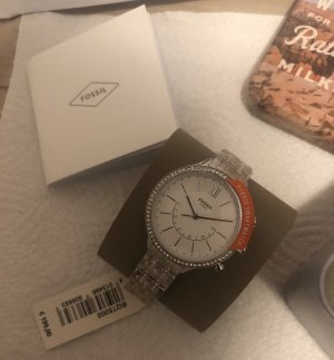 Fossil Watch With Metal Strap silver-colored stainless steel