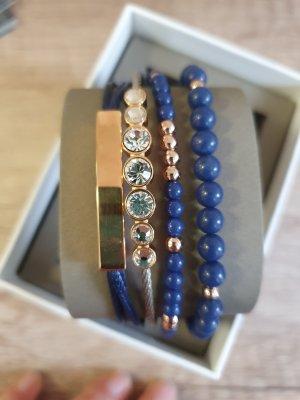 Fossil JGFTSET1030 Armbänder Armband Set blau rosè gold neu schmuckset zirkon