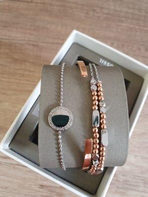 Fossil JGFTSET1046 Armband set rosè gold silber Armkette neu Geschenkset