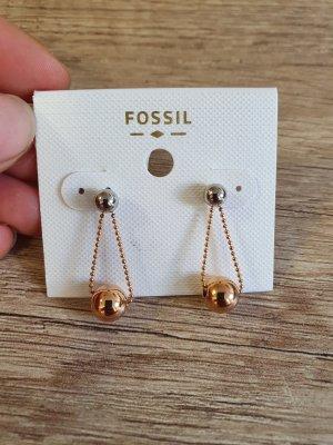 Fossil JOF00508998 Ohrringe Ohrstecker Durchzieher Rosè Gold silber Neu Ohrhänger