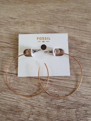 Fossil JOF00581791 Creolen Rosègold zirkon durchzieher Ohrringe neu ohrstecker