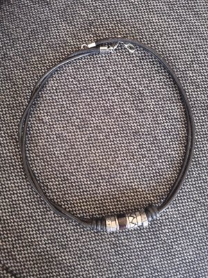 Fossil Necklace black