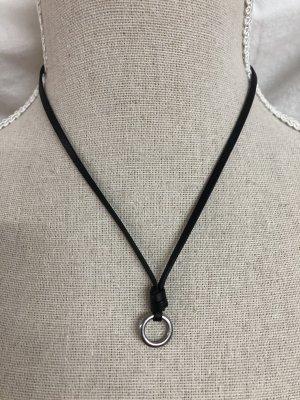 Fossil Kette Lederband Charm Silber