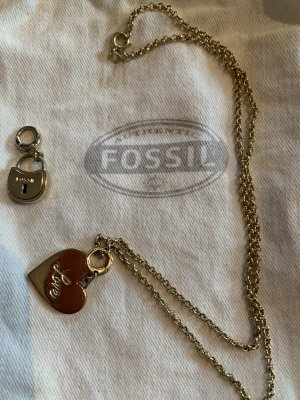 Fossil Necklace gold-colored