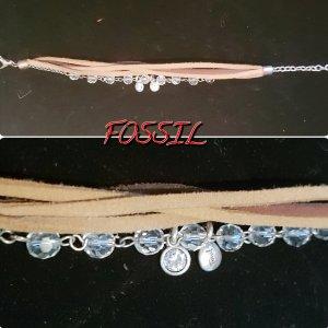FOSSIL Leder Armband glitzer **NEU*VB