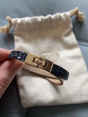 Fossil Leder/Pailetten Armband *wie neu*