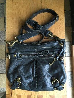FOSSIL Leder Umhängetasche schwarz
