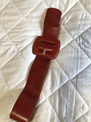 Fossil Waist Belt dark red leather